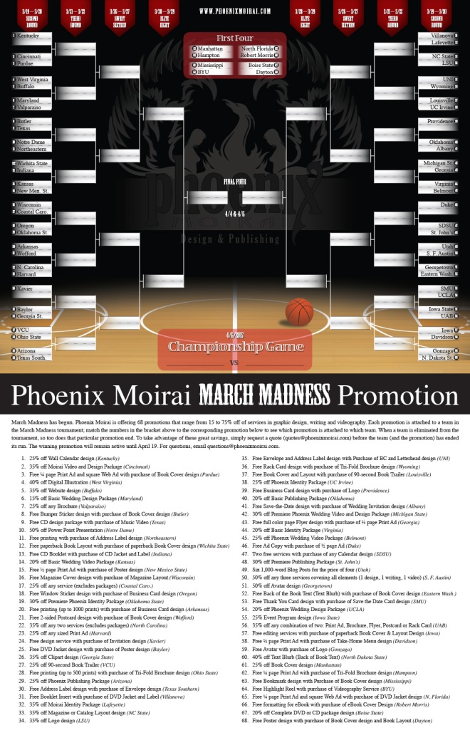 March Madness Tournament Bracket